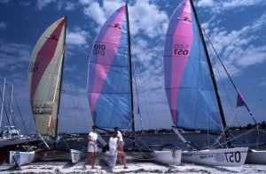 Catamarans Tampa FL published in Sailing Magazine, Bob Grytten Photo