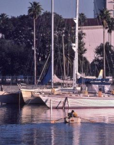Sailboat scene in Southern Boating Magazine photo by Bob Grytten