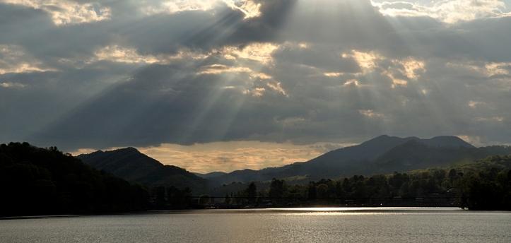 Rays over Lake Junaluska